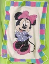 Disney mickey minnie afghans to crochet pattern leaflet, see pics   LA33... - $54.31
