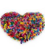 RED Heart door rag-rug style doormat.jute backing,top quality.60cm x 55cm - $39.62