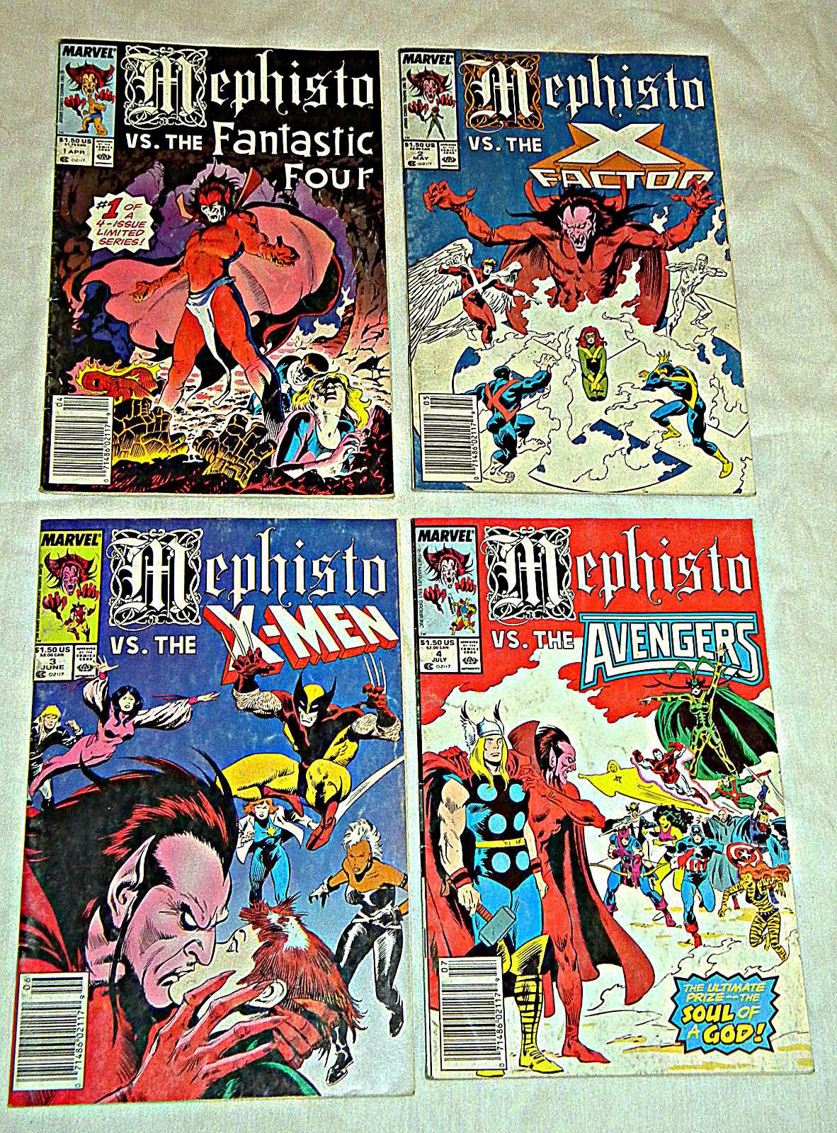 8c30da4b7c S l1600. S l1600. Previous. Mephisto 1-4 Complete Marvel Comics Set X-Men  Avengers Fantastic Four XFactor