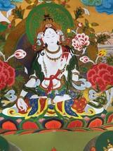 "35"" Collection Decorative Chinese Tibetan Thangka Painting Bring Good Lu... - $121.54"
