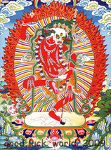 """23"""" Boutique Decorative Chinese Tibetan Thangka Painting Brocade Thangka... - $93.49"""
