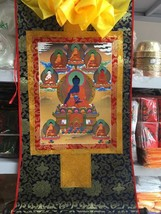 "35"" Collection Decorative Chinese Tibetan Thangka Painting 8 Buddhas Goo... - $121.54"
