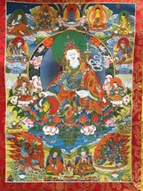 """35"""" Collection Decorative Chinese Tibetan Thangka Painting Bring Your Go... - $121.54"""