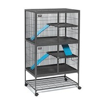 Pet Supplie Small Animal Ferret Nation Habitat Cage Double Unit 182 Two ... - $290.96