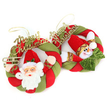 Cute Christmas Santa Claus Snowman Fabric Ornaments Xmas Tree Home Room ... - $16.17