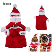 Dogs Clothes Christmas Santa Claus Costume Pet Dog Clothes Sweater Hoode... - $20.57