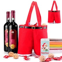 Red Wine Bottle Cover Bags Candy Bag Christmas Dinner Table Decoration H... - $10.43