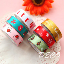 Satin face Christmas series decoration tape Cloth masking tape stickers ... - €19,91 EUR