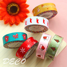 20pcs/lot Satin face Christmas series decoration tape Cloth masking tape... - €27,08 EUR
