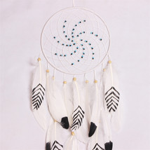Handmade Blue Dream Catcher Circular Net With f... - $13.12