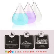 Water Shape Bottle Weather Storm Forecast Glass Crystal Drops Gift Home ... - $24.82