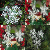 10Pack/Lot 15cm Christmas Snowflake Decorations For Wall Windows Decor  - $9.34