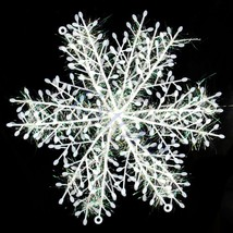 30pcs/lot Christmas Snowflake Hanging Decorations For Windows Decor 15cm - $9.34