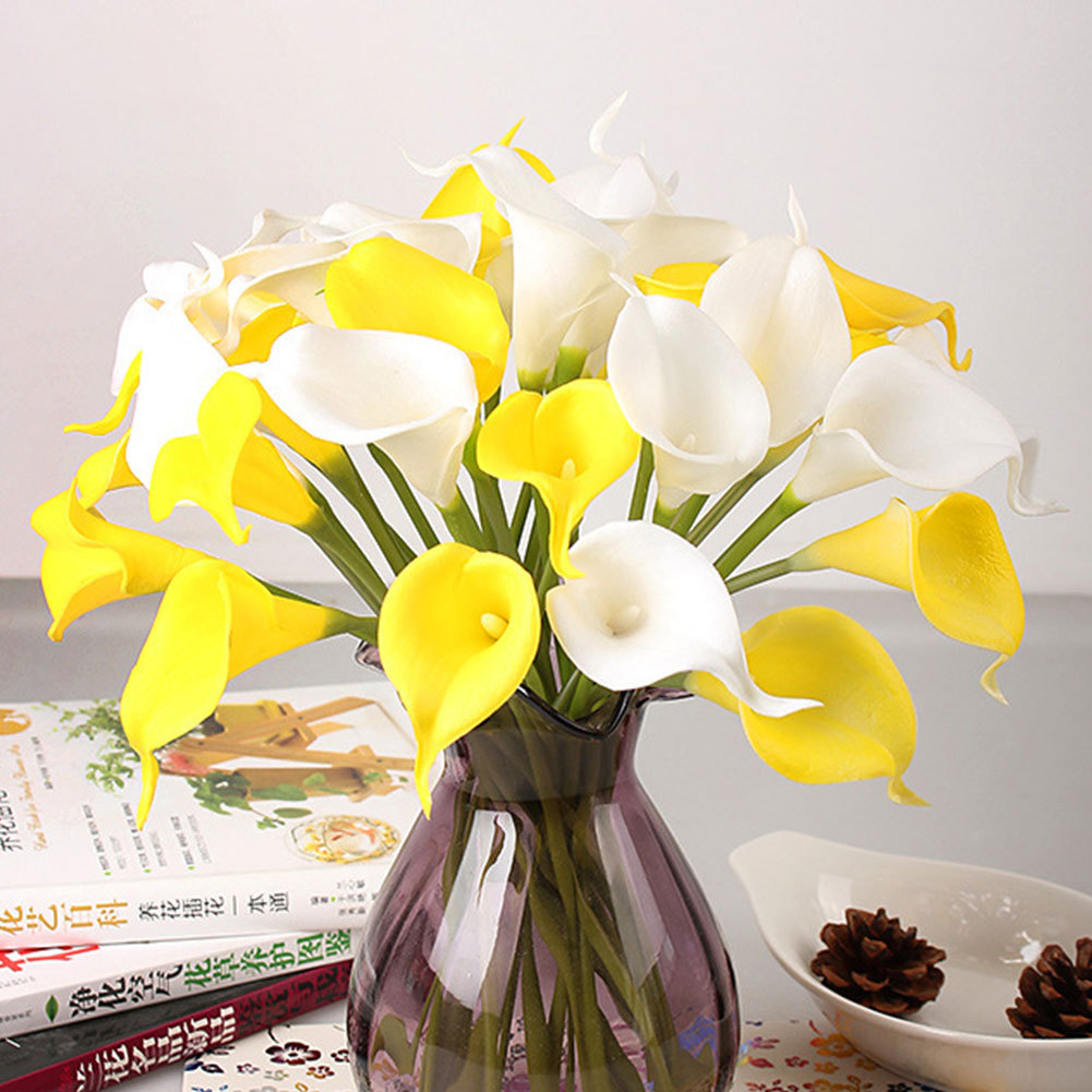 Artificial flower calla bouquet hotel room wedding party for Bouquet hotel