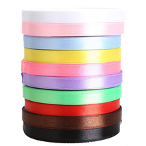 10 Rolls Pretty Silk Satin Ribbon 10mm 10x25 Yards Wedding Party Decorat... - $15.92