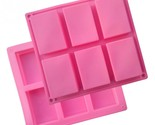 Silicon Cake Mold 6 Small Squares Rectangle Mold Soap Mold Styling Tools Cake To