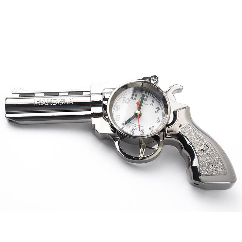 Stylish vintage style gun shape pistol alarm clock bedside alarm clock for kids alarm clocks - Unique alarm clocks for teenagers ...