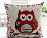 Ome decorative sofa cotton cartoon owl jacquard cushion cover throw pillow case 45 thumb155 crop