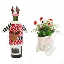 2pcs/set Santa Claus Sweater Cute Red Wine Bottle Cover Bags Dinner Tabl... - $9.54