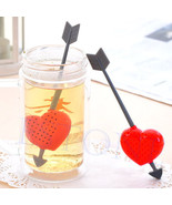 5pcs/lot Cute Cupid Arrow Love Heart Tea Infuser Herb Leaf Filter Strain... - $11.25
