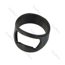 10Pcs Stainless Steel Finger Ring Bottle Opener Beer Bar Tool Black - $12.34