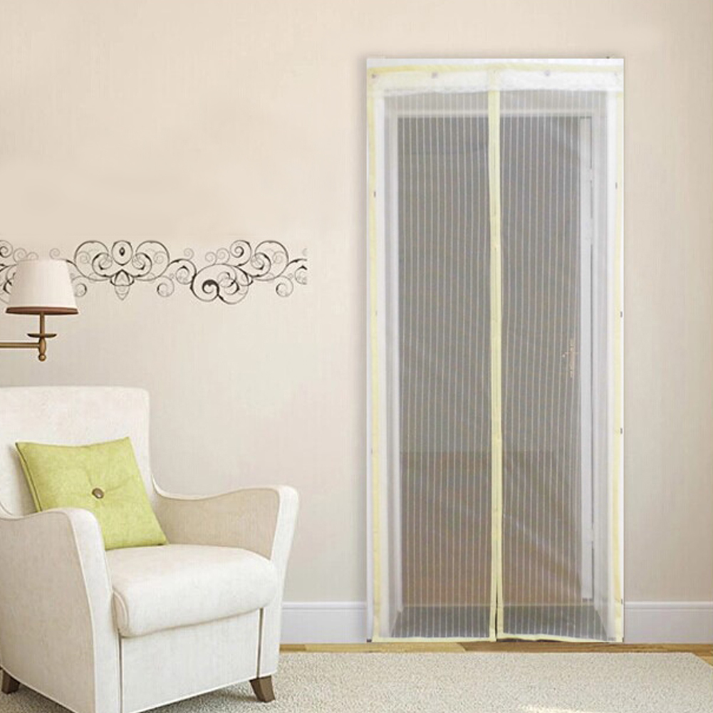 Magic Mesh Magnetic Screen Door Curtain Anti Bug Mosquito Net Magnets 90 210cm 1 Canopies