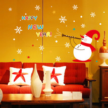 Christmas Wall Decoration Wall Cute Snowman Paper - $12.97