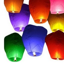 5Pcs/Set 90*50*35cm Mini Sky Lanterns Chinese Paper Sky Candle Fire Ball... - $12.31