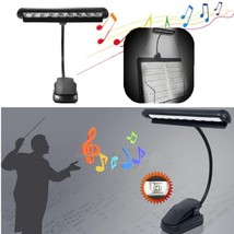 Flexible 10 LEDs Clip-On Orchestra Music Stand Piano Lamp Light with AC ... - €14,40 EUR