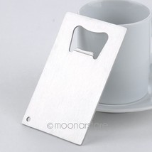 1 Piece Wallet Size Stainless Steel Credit Card Bottle Opener Business C... - $9.19