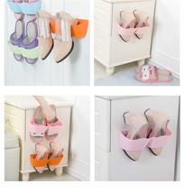 Creative Wall Hanger Shoe Holder Hook Shelf Rack Storage Organizer Space... - $8.61