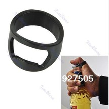 10pcs/lot Stainless Steel Beer Bar Tool Finger Ring Bottle Opener Black - $12.41