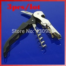 3pcs/lot Multi-Function Wine Bottle Opener Corkscrews Waiters#XY# - $13.09