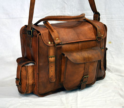 Real Leather Vintage Messenger Bag Laptop Satchel Sling Handmade Briefca... - $76.21