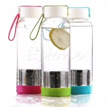 600ml Outdoor Sports Glass Water Bottle With Te... - $19.51