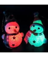 R changing snowman christmas decorate mood lamp night light xmas tree hanging ornament thumbtall