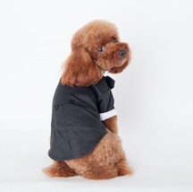 Winter Dog Clothes Dress Suit Christmas Dog Costume Parkas Warm Wedding ... - $26.08