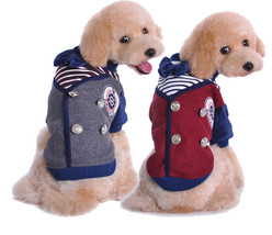 Dog Winter Clothes Pet Cartoon Bow Coat Christmas School Costume Parkas ... - $27.29