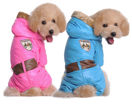 Dog Winter Clothes Waterproof Coat Christmas Costume Parkas Warm Jacket ... - $28.26