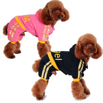 Dog Winter Clothes Cartoon Jumpsuit Hoodie Coat Christmas Costume Parkas... - $23.43