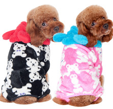 Dog Winter Clothes FLeece Bear pettarn Pet Coat Christmas Costume Parkas... - $23.43