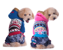 Dog Winter Clothes Floral Sweater Coat Christmas Costume Parkas Warm Jac... - $31.11