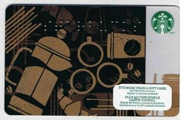Starbucks Canada 2013 Braille Black Gold Gift Card No Value English French - $1.42