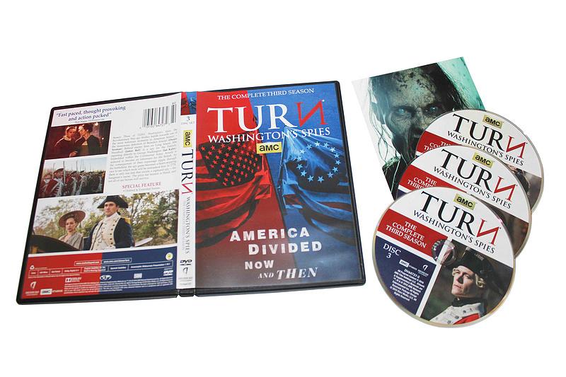 Turn Washington's Spies The Complete Season 3 DVD Box Set 3 Disc Free Shipping