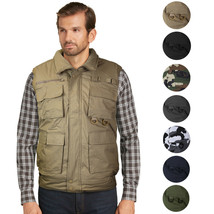 Men's Premium Multi Pocket Zip Up Military Fishing Hunting Utility Tactical Vest