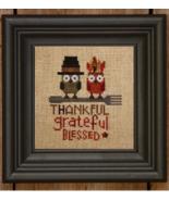 The Thankful Owls thanksgiving cross stitch chart Bent Creek  - $6.75