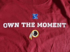 New w/o Tags Red Majestic Washington Redskins NFL Football T Shirt Adult... - $16.82