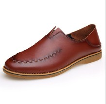 leather Men's New Shoes Shoes 2016 Genuine Shoes Breathable Leisure Leather gS1nw8q
