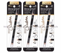 *L'OREAL* 3-in-1 Tool BROW STYLIST SCULPTOR Crayon+Brush+Wax NEW! *YOU C... - $11.10