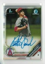 2019 Bowman Chrome Autograph card CPA PS Patrick Sandoval - Angels - NM/... - $9.49